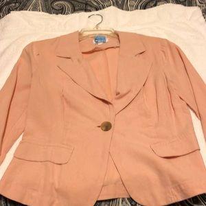 Ladies peach jacket.